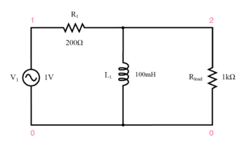 inductive high pass filter circuit