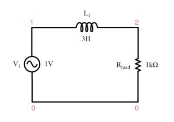 inductive low pass filter circuit