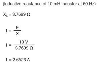 inductive reactance equation