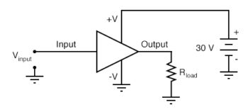 input voltage source load resistance and power supply