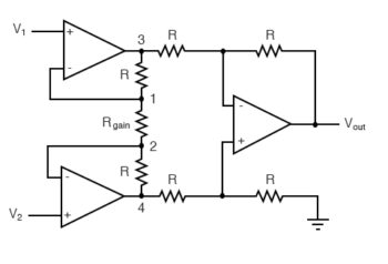 instrumentation amplifier circuits