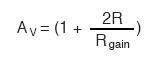 instrumentation amplifier formula