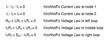 kirchhoffs current and voltage law
