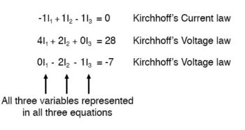 kirchhoffs current law equation and two kirchhoffs voltage law image2