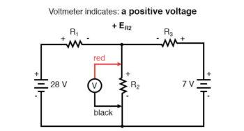 kirchhoffs voltage law positive voltage