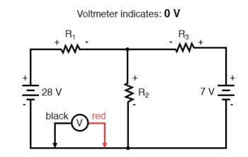 kirchhoffs voltage law zero voltage