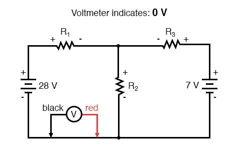 kirchhoffs voltage law zero voltage