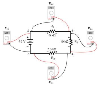 kirchoffs voltage law diagram 1