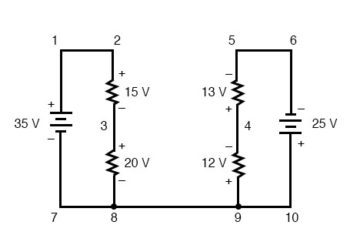 kirchoffs voltage law in a complex circuit