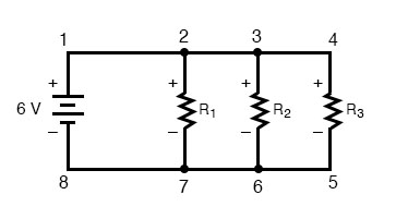 kirchoffs voltage law in parallel circuit