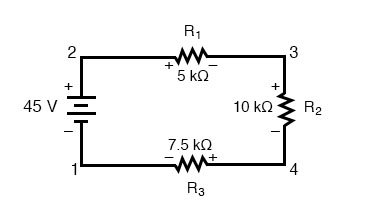 kirchoffs voltage law in series circuit