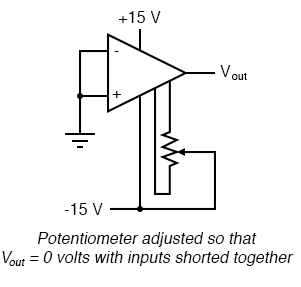 labeled offset null circuit