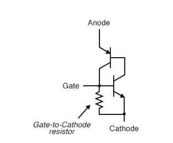 larger SCRs have gate to cathode resistor