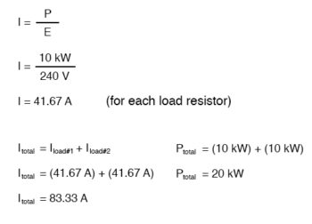 load resistor total circuit current equation1