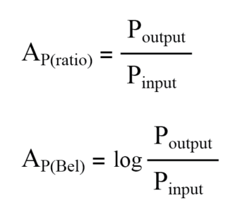 logarithm of power ratio equation