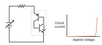 lower transistor breaks down