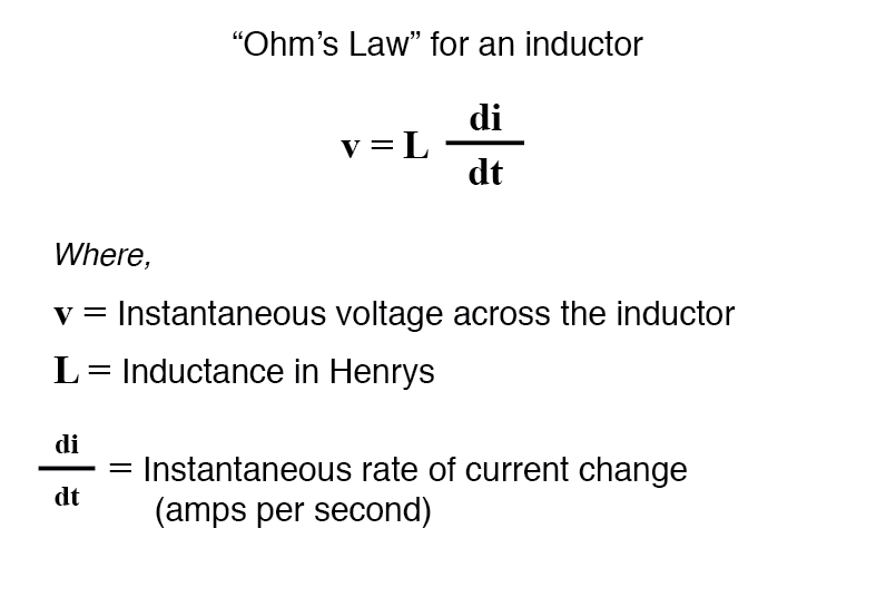 mathematical relationship voltage and current