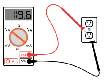 measure ac voltage from a wall socket