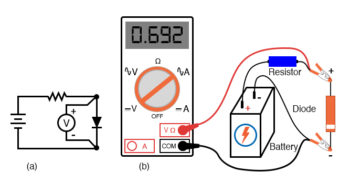 measuring forward voltage of a diode without diode check
