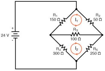 mesh current circuit diagram