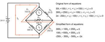 mesh current circuit diagram eight