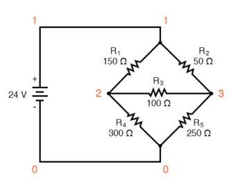mesh current circuit diagram five