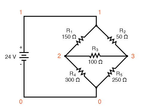 mesh current circuit diagram