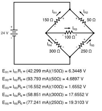 mesh current circuit diagram four