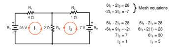 mesh current circuit diagram nine