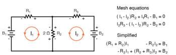 mesh current circuit diagram seven