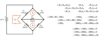mesh current circuit diagram six