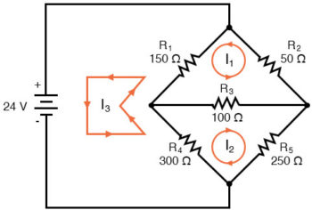 mesh current circuit diagram two