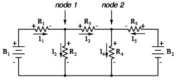 mesh current diagram four