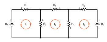 mesh current diagram three