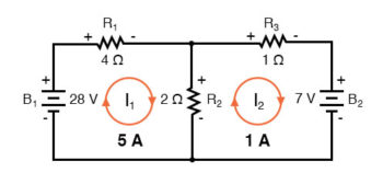 mesh current redraw circuit one