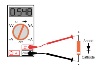 meter with a diode check