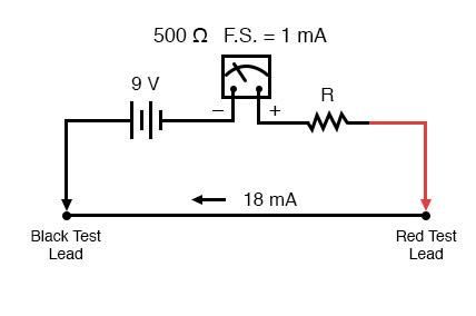 meters circuit ohmmeter