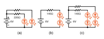 multiple led in a circuit