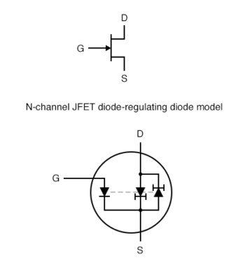 n channel jfet diode regulating diode model