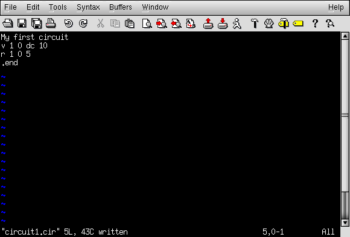 netlist deck text editor program
