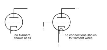 no filament no connections shown to filament wires