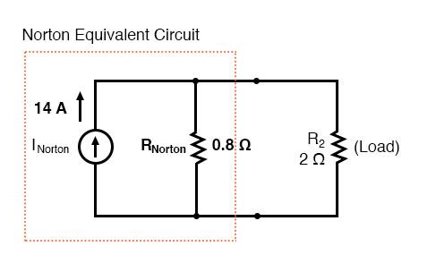 norton equivalent circuit diagram