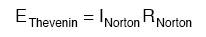 norton equivalent circuit to thevenin equivalent circuit