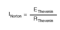 norton voltage equals to thevenin voltage divided by thevenin resistance
