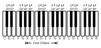 octave view of piano keyboard