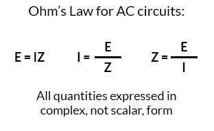 ohms law for ac circuits