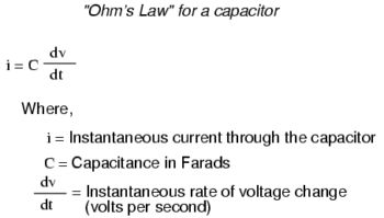 ohms law for capacitor