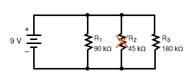 opened components parallel circuit