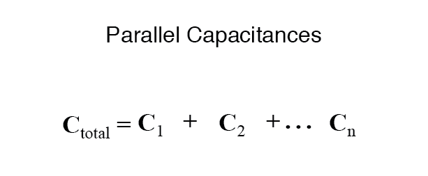 parallel capacitances