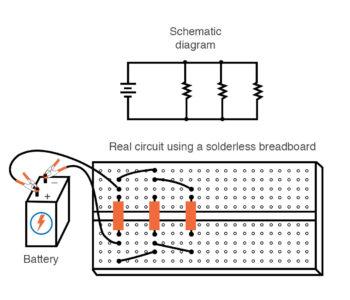 parallel circuit construction breadboard